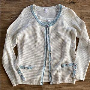 ❄️ Escada Cream & Baby Blue Sweater Set ❄️